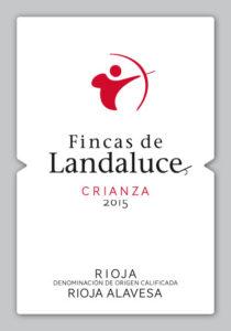 Etiqueta FINCAS de LANDALUCE Crianza 2015